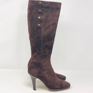 COLE HAAN NIKE AIR Samira Brown Suede Knee Boots